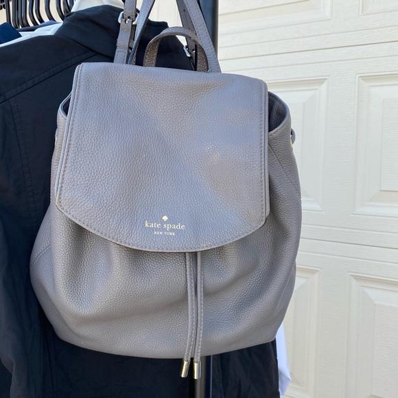 Kate spade grey mini backpack bag